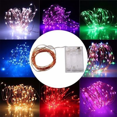 $5.79 • Buy 20-100LED Battery Power LED Copper Wire String Fairy Light Strip Lamp Xmas Party