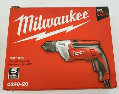 """View Details Milwaukee 0240-20 3/8"""" Electric Drill • 59.99$"""