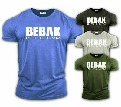 BEBAK Mens Gym T-Shirt  Bodybuilding Top Workout Clothing Training Top VEST MMA • 14.99£