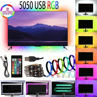 $7.66 • Buy LED TV USB Backlight Kit Computer RGB LED Light Strip TV Background 1M/2M Lights
