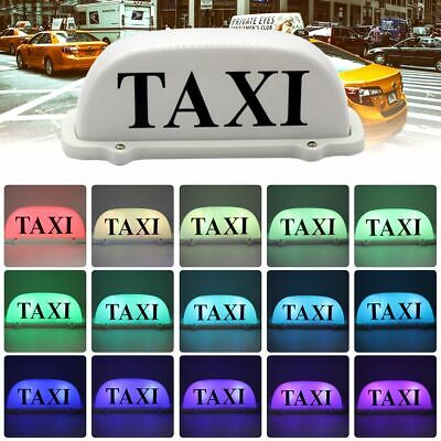 $32.99 • Buy Taxi Roof Magnetic Sign 6 LED Lights Economy Remote Control Top Sign Colorful