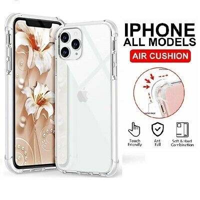 AU4.99 • Buy Clear Case For IPhone 13 12 11 Pro Max XR XS 8 SE Shockproof Silicone Protective