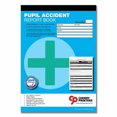 £7.99 • Buy Cherry GDPR Pupil Accident Report Book A5 50 Pages