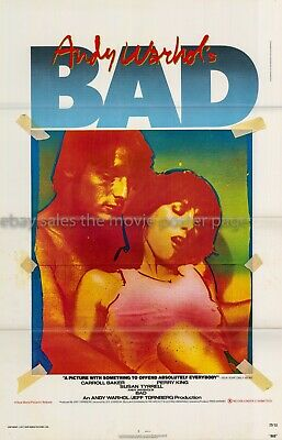 $49.50 • Buy Andy Warhol's Bad 1977 Tri-fold One-sheet Movie Poster