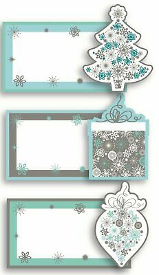 £2.59 • Buy 12 Luxury Handcrafted Christmas Table Name Setting Place Cards Teal Silver Party