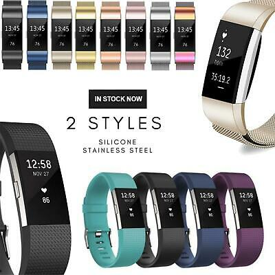 AU4.95 • Buy Fitbit Charge 2 Band Replacement Wristband Silicone Sports Watch Bands Strap