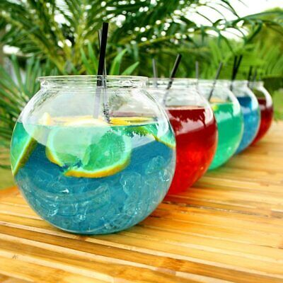 £39.99 • Buy 10 X Cocktail  Fish Bowl Plastic 3l 5 Pint Party Wedding Hen Party  Fast Post !