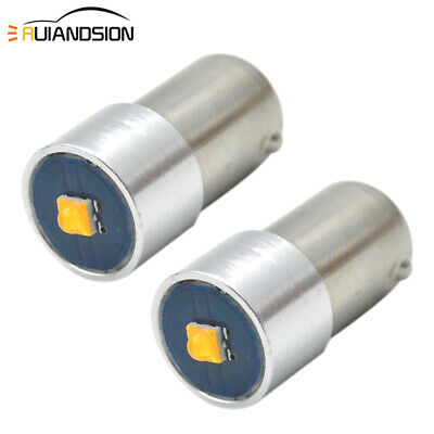 AU15.99 • Buy 2X 6-30V BAX9S H6W CREE 3W LED Warm White Indicator Side Parker Maker Light Bulb