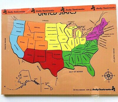 Complete Map Of Usa.United States Wood Puzzle