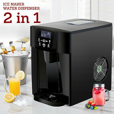 $118.90 • Buy 2in1 Electric Ice Maker Compact Countertop Water Dispenser Machine 26Lbs Black
