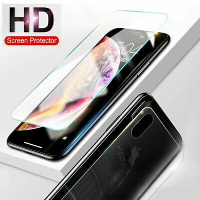 AU6.99 • Buy Front & Back HD Tempered Glass Screen Protector For IPhone XS Max XR 8 7 6S Plus