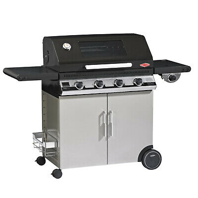 AU1499 • Buy New BeefEater Discovery 1100E 4 Burner Black Enamel Mobile BBQ With Trolley And