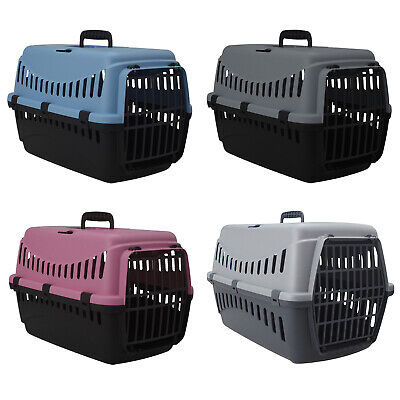 £11.95 • Buy Portable Pet Carrier For Cats Puppy Travel Cage Dog Carry Basket Transporter Box