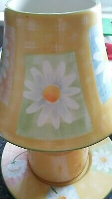 Yankee Candle Plate & Shade Set In 'daisy' Design - New & Unused • 15£