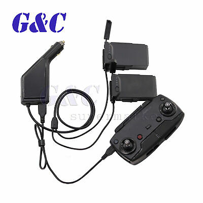 AU19.49 • Buy Car Charger For DJI Mavic Air Smart Multi Battery Charger Connector USB