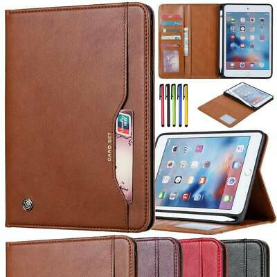 AU25.73 • Buy Folio Leather Wallet Case With Pencil Holder For IPad Mini Air 2 3 Pro 5/6th Gen