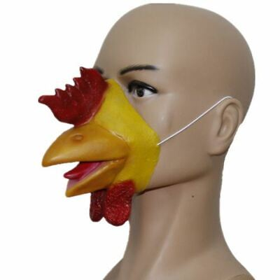 Rooster Chicken Cockerel Latex Mask Beak Animal Farm Fancy Dress Stag Hen Party • 4.99£