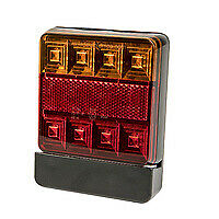 AU19.99 • Buy 1x Square LED Stop Tail Indicator Combination Trailer Light Lamp + Number Plate