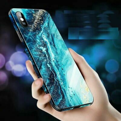AU15.90 • Buy Shockproof Tough GLASS Marble Hard Cover Case For IPhone 11 Pro Max XS XR 8 7 6S