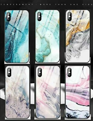 AU12.20 • Buy Shockproof Heavy Duty GLASS Marble Cover Case For IPhone X XS Max XR 8 7 6S Plus