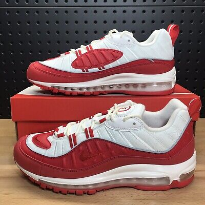 """$124.99 • Buy Nike Air Max 98 """"University Red"""" Running Shoes 640744 602 Men's Size 8"""