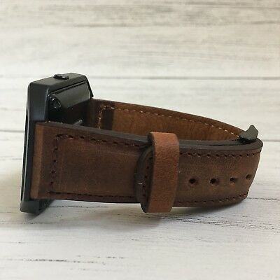 $ CDN75.23 • Buy Fitbit Blaze Handmade Genuine Brown Leather Watch Band Strap