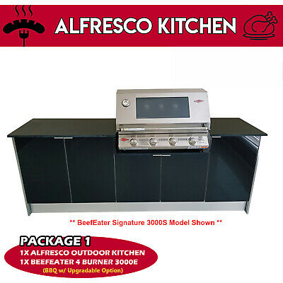 AU3500 • Buy New Alfresco Outdoor Kitchen With Beefeater Signature 3000E 4burner BBQ Package