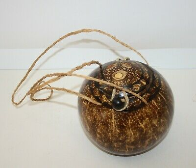Carved Coconut Shell Bag Purse • 2.51$