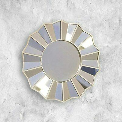 Sunburst Round Wall Mirror Circular Home Decor Bathroom Bedroom Gold Champagne • 10.99£