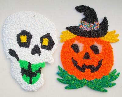 $ CDN26.41 • Buy Vintage Halloween Decorations Scull Pumpkin Popcorn Lot Of 2
