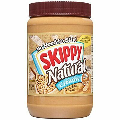 Skippy Peanut Butter, Natural Creamy, 40 Ounce • 10.48£