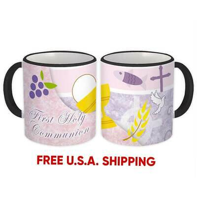First Holy Communion : Catholic Mug Religious Saint Gift • 15.35£