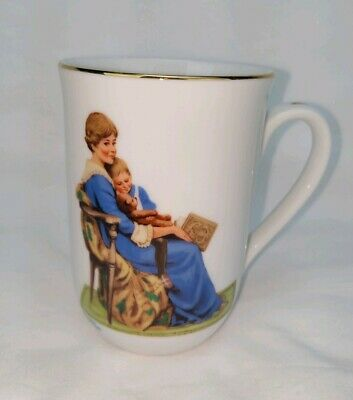 $ CDN18.39 • Buy Vintage 1982 Norman Rockwell Museum BEDTIME Collectable Coffee Cup Mug Authentic
