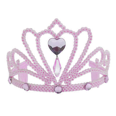 Girls Princess Crown Tiara Glitter Diamond Fancy Dress Costume Accessory • 1.99£