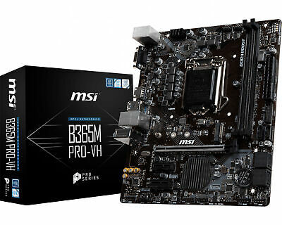 AU119 • Buy MSI Gaming Desktop PC Intel LGA 1151 B365M PRO-VH M.2 MATX Motherboard