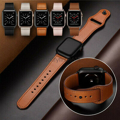 AU15.88 • Buy For Apple Watch Band Genuine Leather Strap IWatch Series 5 4 3 2 1 38 40 42 44mm