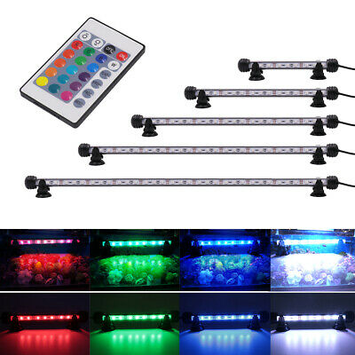 Fish Tank RGB Color Changing O2 Bubble LED SMD Aquarium Air Lights Submersible • 15.99£