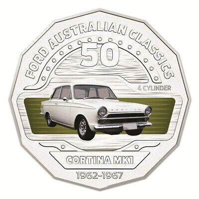 AU10 • Buy Australia 2017 Ford Classics 1965 Cortina MKI GT500 50c Cents UNC Coin Carded