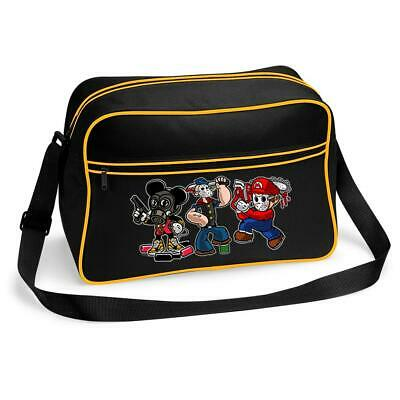 Gaming Cartoon Killer Hedgehog Mario Popeye Messenger Shoulder Bag School  • 15.99£