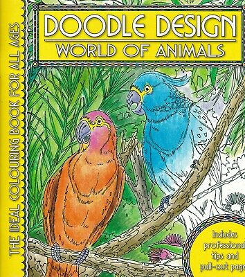 World Of Animals Colouring Book Doodle Design • 4.49£