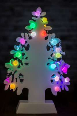 White Table Top LED Christmas Tree Decoration Light Up Xmas Centerpiece Coloured • 9.71£