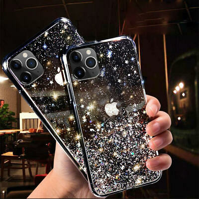 AU9.85 • Buy IPhone 11 Pro Max Xs/Xr 7 8 6 Bling Glitter Clear Case Ultra-thin Soft Gel Cover