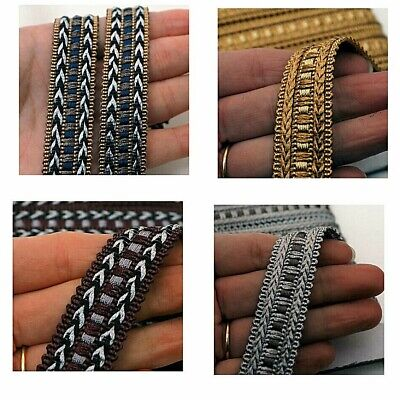 Gimp Braid Trim Upholstery , 20mm Wide Sold By The Metre, 5 Colours, G9 • 2.95£