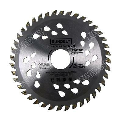 £7.89 • Buy NEW! 115mm Angle Grinder Saw Blade For Wood And Plastic 40 TCT Teeth UK Fast