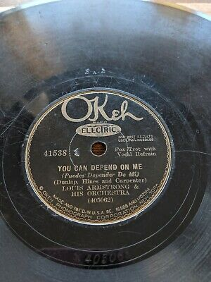 78 Louis Armstrong OKeh 41538 You Can Depend On Me / The Lonesome Road • 21.25$