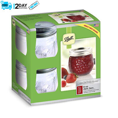 Great For Gift, Jelly Elite Collection Jam Jar 4 RM 8 Oz, Easy To Clear,  • 8.99$