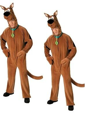 Official Scooby Doo Costume Adults Mens Fancy Dress Costume Licensed Cartoon Out • 46.99£