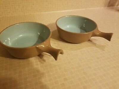 $7.99 • Buy Vintage Set Of 2 Chateau Buffet Crocks By Homer Laughlin USA