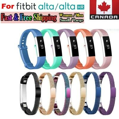 $ CDN6.99 • Buy For Fitbit Alta HR Ace Wrist Band Replacement Silicone -Metal Bands Small Large