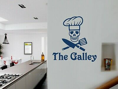 The Galley Wall Decal | Skull Chef Wall Sticker | Kitchen Wall Stickers • 13.99£